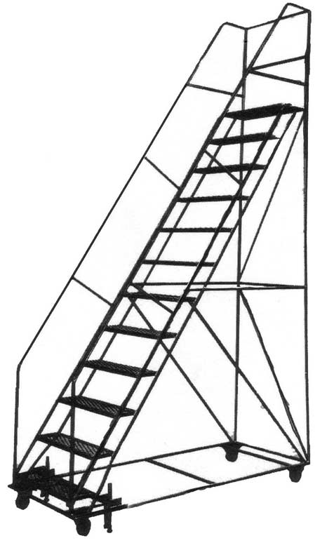 Steel Rolling Ladder With Handrails Lynn Ladder Lynn Ma